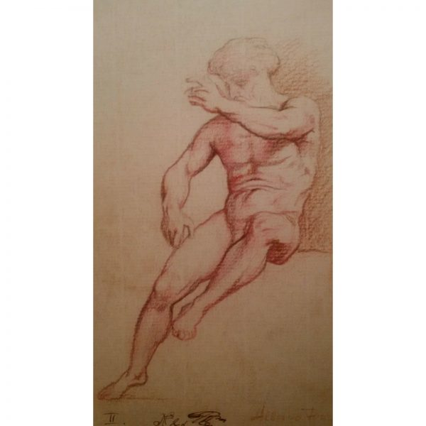 old_master_drawing_french_school_study_male_figure