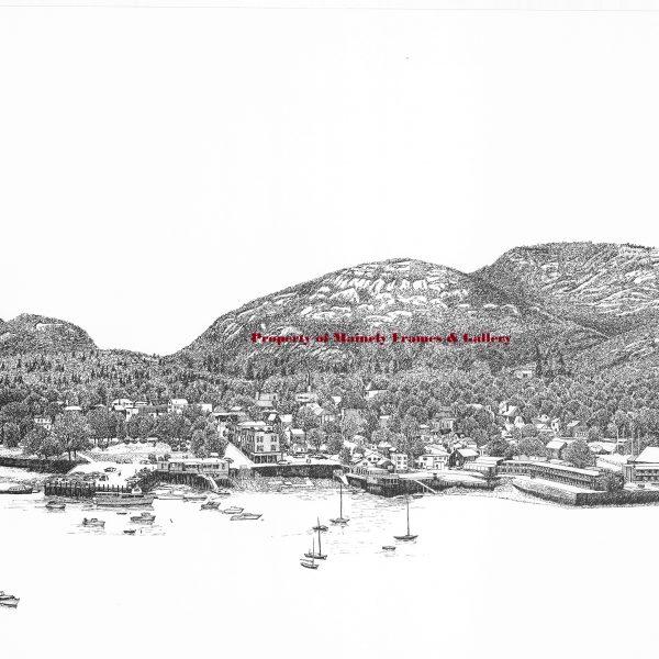 William C Harrison Bar Harbor Mine pen and ink