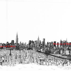 marked New York Skyline