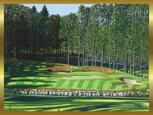 Belgrade Lakes Golf Course Hole 5 Par 3 Mainely Maps Frames