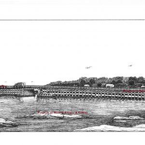 marked Last Surviving Cribstone Bridge