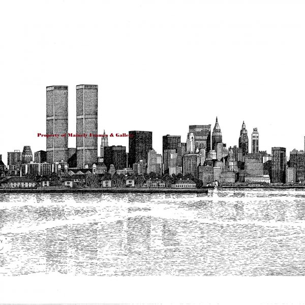 Manhattan, New York City 1981 (Twin Towers) – Mainely Maps, Frames ...